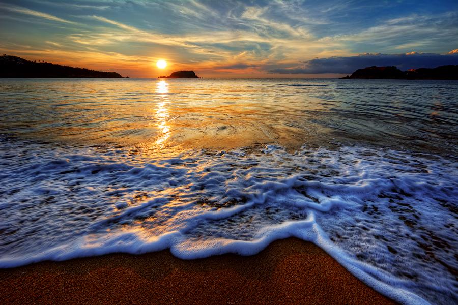 colorful seaside beach