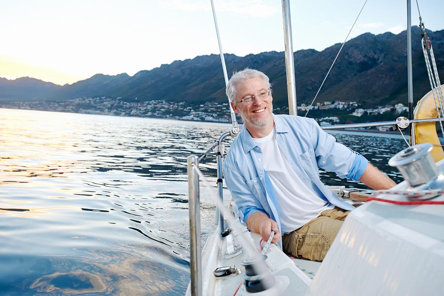 happy sailing man