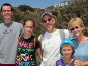 Michael Katz with his kids in Hollywood