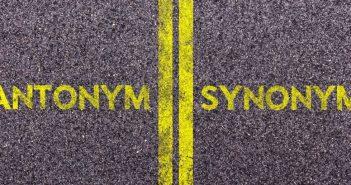 antonym synonym