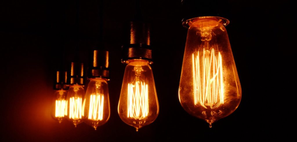 Electric lights that represent tips for writers