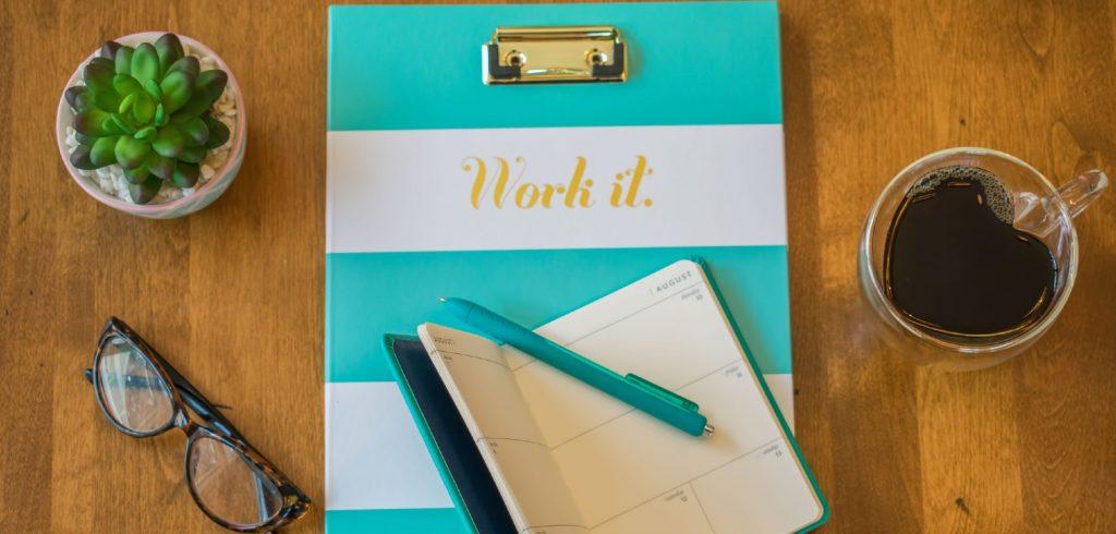 binder with words work it